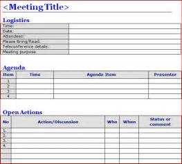 6 meeting minutes templates excel pdf formats