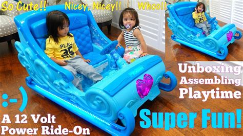 frozen power wheels sleigh disney frozen 2 toys 12 volts disney frozen sleigh ride