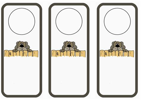 printable animal door hangers dog lovers door hangers birthday printable