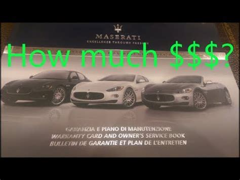 What Does A Maserati Cost by How Much Does It Cost To Maintain The Maserati