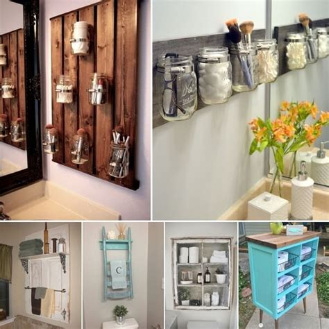 Clever Bathroom Storage 15 Clever Upcycled Bathroom Storage Projects