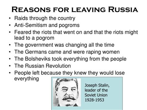 Reasons For Leaving Ppt Ellis Island Visual Project Powerpoint Presentation