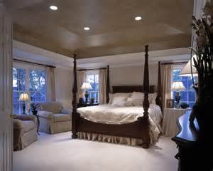 Master bedroom with tray ceiling shenandoah model traditional bedroom