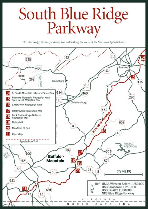 blue ridge parkway virginia map sherpa guides virginia mountains south blue ridge