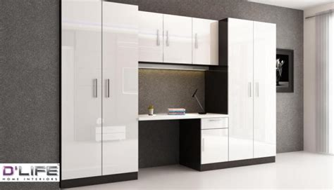 Wardrobe Designs With Study Table by Customized Wardrobe Study Table For Kerala Bedroom