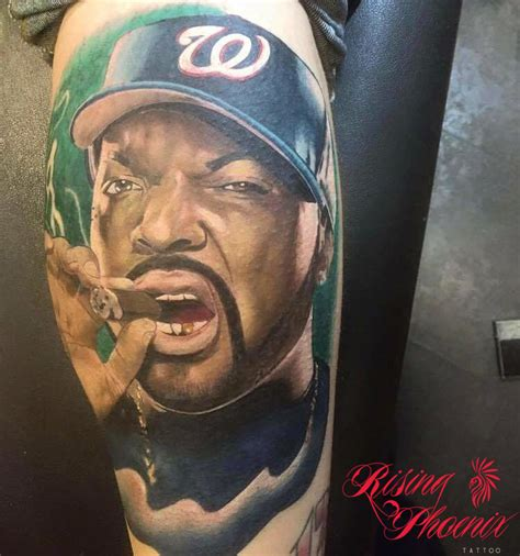ice cube face tattoo cube tattoos