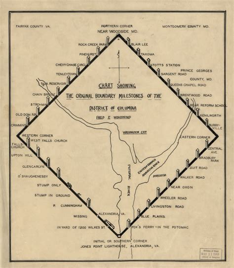 washington dc map nw ne sw se 1906 map of all d c boundary stones ghosts of dc