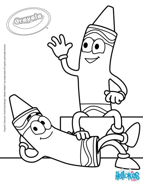 crayola 20 coloring pages hellokids com