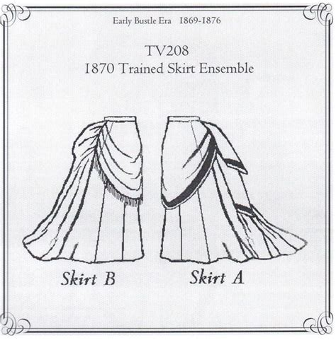 sewing pattern victorian skirt details about old west 1870 trained skirt ensemble sewing