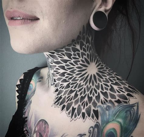 neck shoulder tattoo designs mandala neck best design ideas