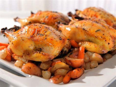 herb roasted cornish game hens recipe sandra lee food network