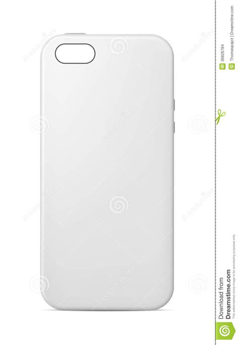 phone case template stock vector image of customization