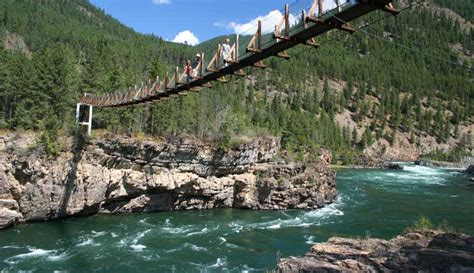 kootenai falls swinging bridge view the many great photos we have of libby montana