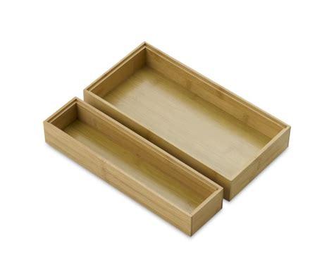 bamboo drawer organizers set of 2 williams sonoma