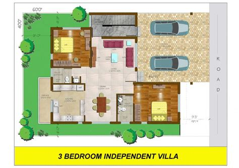 3 bhk house plan conseptz 3 bedroom independent villa floor plan