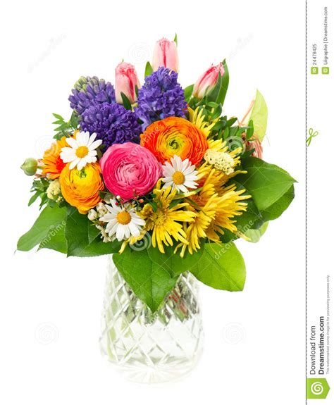 colorful spring flowers bouquet beautiful bouquet of colorful spring flowers stock image