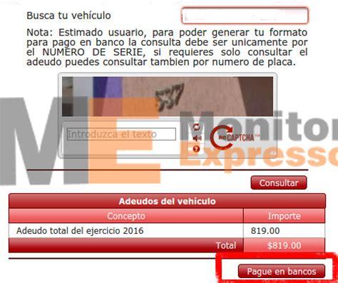formato para pagar refrendo del 2016 en michoacan press sencillos pasos para pagar en banco el reemplacamiento