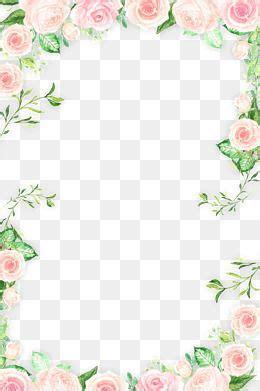 Kl Of Frame Colour Wrapping Bunga pink flower border 183 png flores de color rosa flores de colores y
