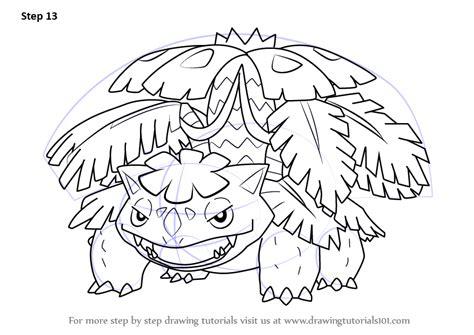 pokemon coloring pages mega venusaur learn how to draw mega venusaur from pokemon pokemon