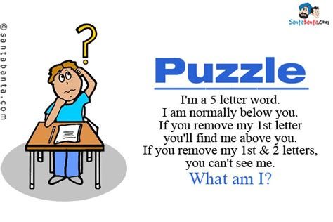 5 Letter Words Normally Below You puzzles and riddles sms