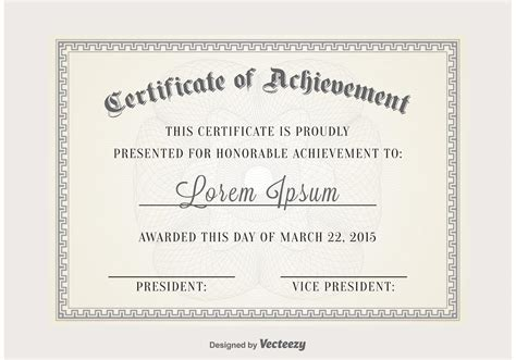 certificate vector template download free vector art