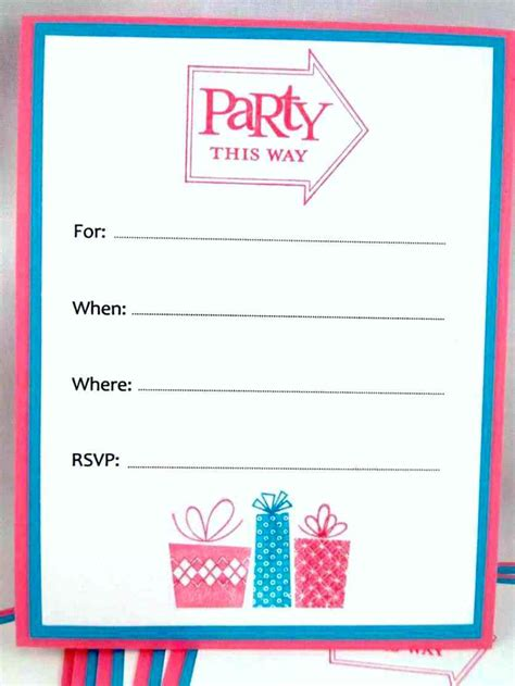 blank birthday invitation template template update