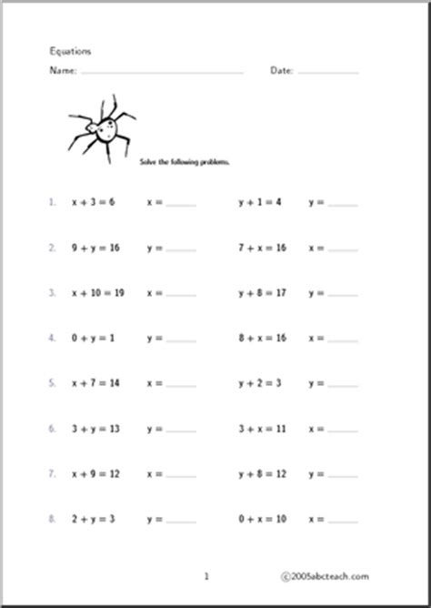 6th Grade Equations Worksheets by 13 Best Images Of 6th Grade Algebraic Expressions