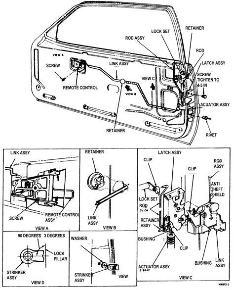 latch diagram door lock diagram installation ford f150 door get free