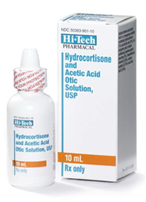 Acetic Acid Shelf by Akorn Hydrocortisone And Acetic Acid Otic Solution Usp