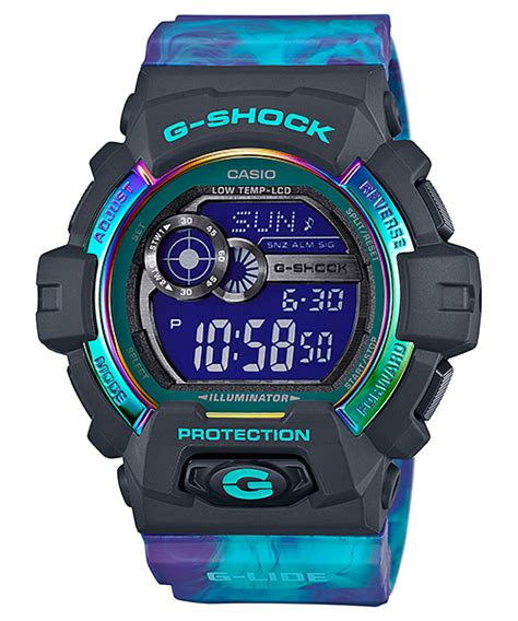 Casio G Shock Gls Black Huruf Blue live photos g shock gls 8900ar g lide light color