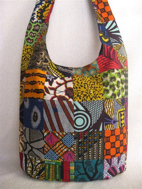 Alibi Afrro Sling Bag Silver print patchwork sling bag ethnic from bohorain on etsy