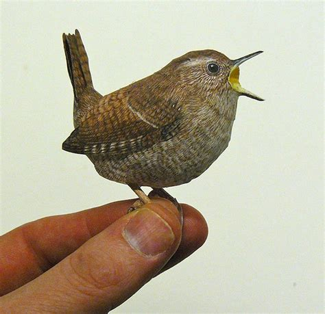 Papercraft Bird - you sure they re not real realistic papercraft birds