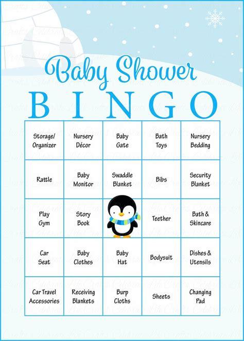 Baby Bingo Shower by Winter Baby Bingo Cards Printable Prefilled