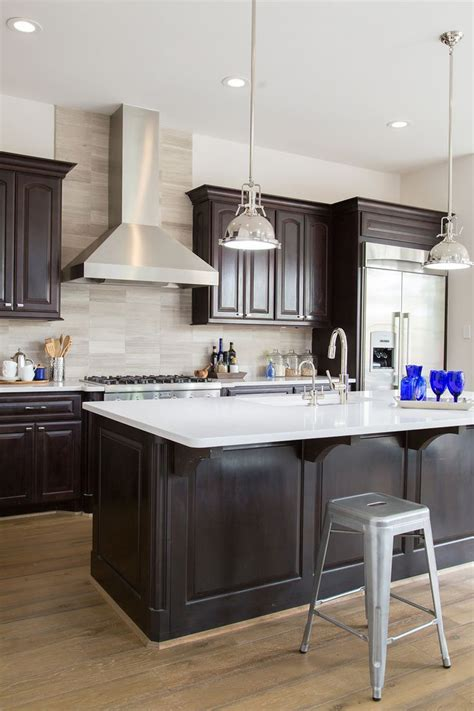kitchen decorating ideas dark cabinets the wall the what countertop color looks best with white cabinets