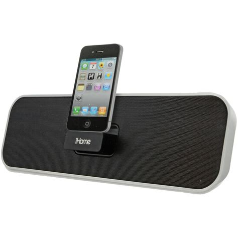 ihome portable stereo system for iphone ipod id7s b h