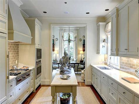 galley kitchen with island layout galley kitchens that rock the decorating files