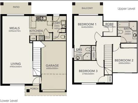 5 Bedroom Townhouse Floor Plans by 2 Storey 3 Bedroom House Plans Homes Floor Plans