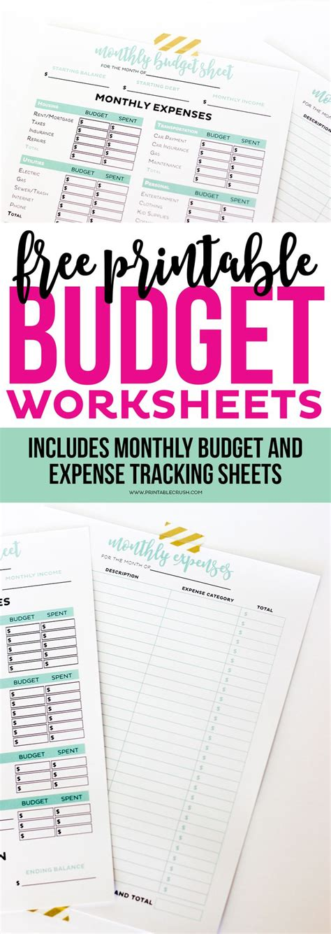 monthly budget and spending form take the buttoned up challenge