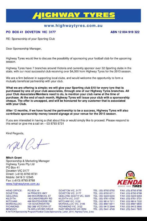 Sponsorship Letter For Netball Team A Letter To Our Members Players And Supporters From Our New Sponsor Highway Tyres Hton