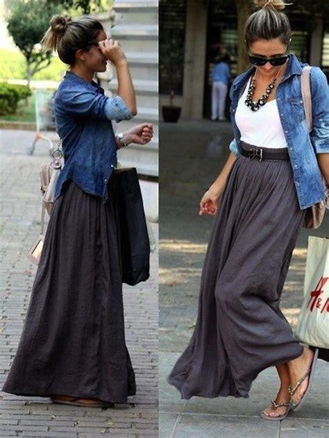 30 ways to style maxi skirtsfaux pas