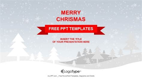merry powerpoint template merry with snowy winter ppt templates