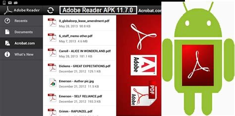 pdf reader for android apk adobe reader apk 11 7 0 for android free