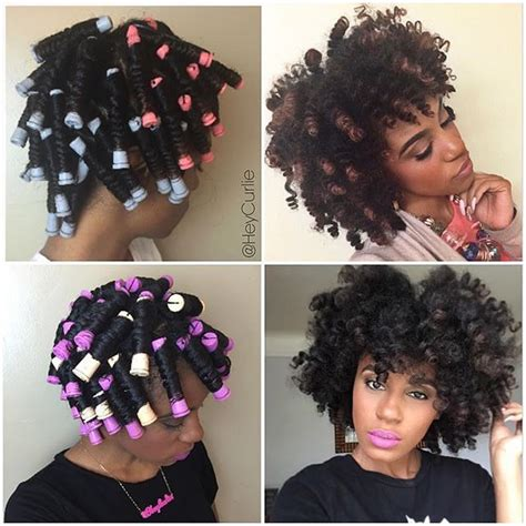 perm left to dry naturally on medium to long hair perm rod set on dry natural hair natural hair tutorials