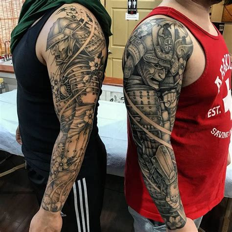 samurai warrior sleeve tattoos designs best 25 samurai ideas on japanese