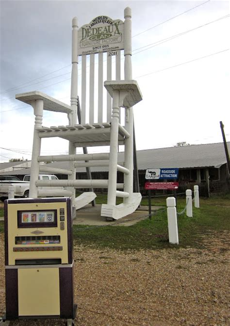 largest rocking chair our epic o mat 174 road trip day 22 heading east