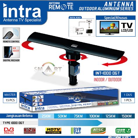 Antena Remote Intra jual antena digital intra int 1000 dgt indoor remote for