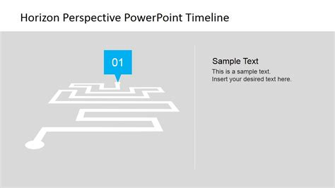 horizon powerpoint themes horizon perspective powerpoint timeline slidemodel