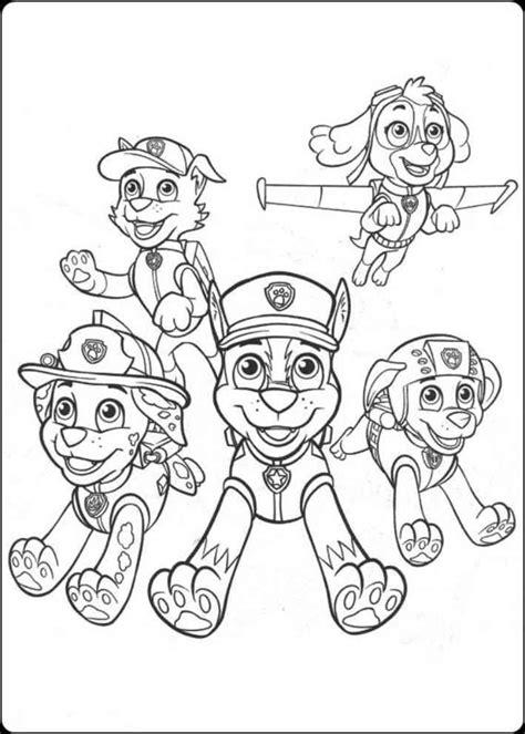 Paw Patrol Karakter gambar mewarnai paw patrol mewarnai gambar