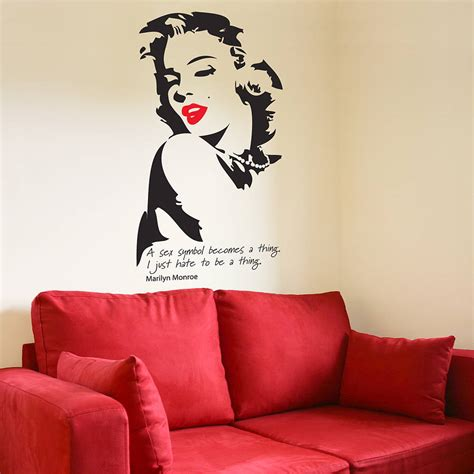 wall stickers marilyn marilyn wall sticker by the bright blue pig notonthehighstreet