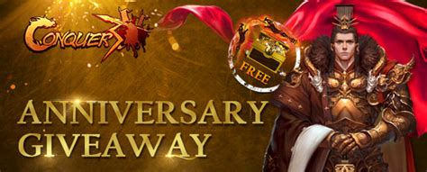 conquer online anniversary gift pack giveaway mmobomb com - Conquer Online Giveaway